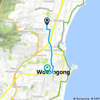 NSW Fairy Meadow to Wollongong CBD (direct)