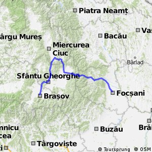 Cycling Route In Vrancea Over Km Bikemap Your Bike Routes - Focşani map