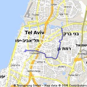 Short bike tour from Tel AvivYafo to Ramat Gan Bikemap Your