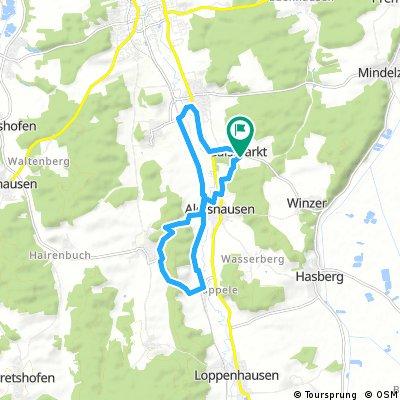 Ausfahrt durch Aletshausen