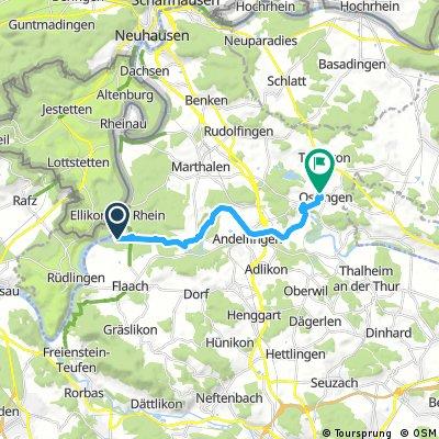Ausfahrt von Flaach nach Ossingen