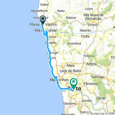 Portugal 03: Porto Seebäder an der nördlichen Küste 42 km (🚴♂️ 28.8.2017)