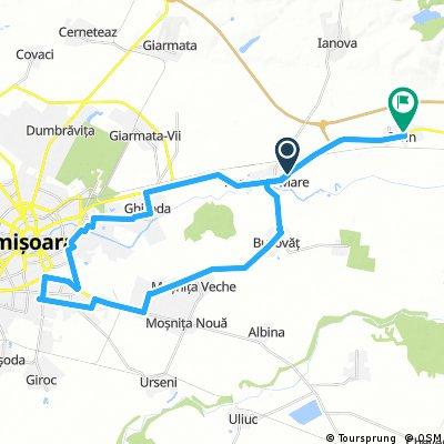 Recas-Izvin-Remetea mare-Bucovat-Mosnita-Timisoara-Remetea Mare-Izvin