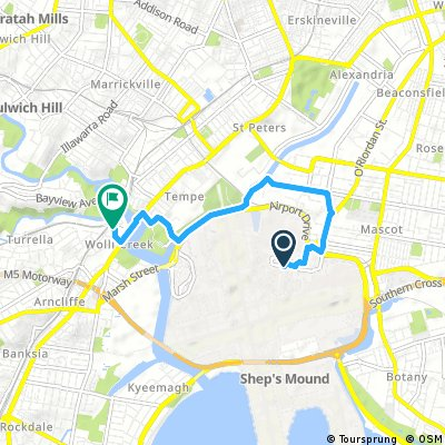 Sydney Airport to Wolli Creek Station