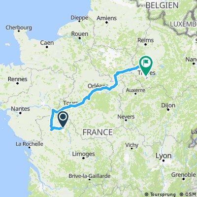 Marigny Brizay Troyes par Canal d'Orléans
