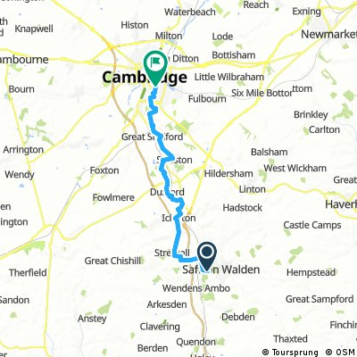 Cambridge to Audley End