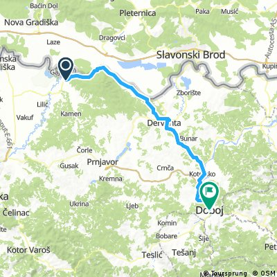 Cycling Routes And Bike Maps In And Around Srbac Bikemap Your