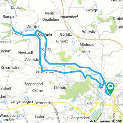 Salzmünde-Kloschwitz-Wettin-Brachwitz-Franzigmark