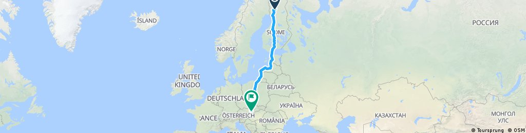 Rovaniemi (Severný polárny kruh) - Helsinky - Šaľa