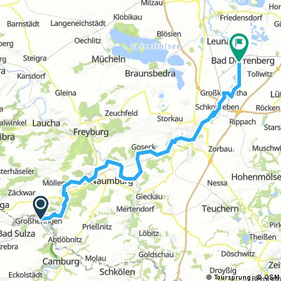 6. Etappe Saale-Radweg