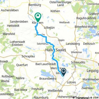 7. Etappe Saale-Radweg