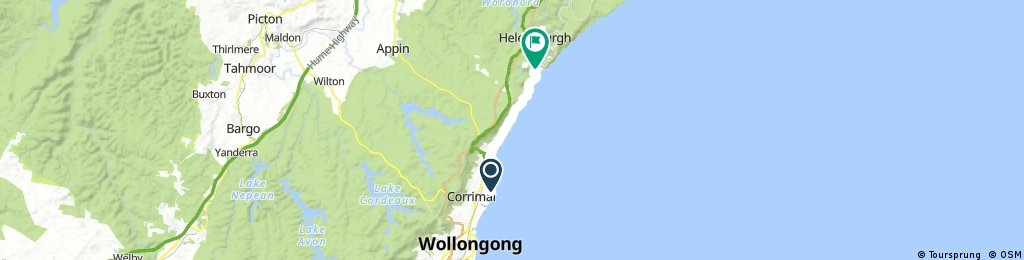ride from Wollongong to Bulgo