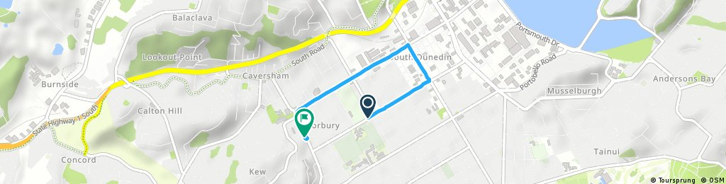 Short ride from Dunedin South to Forbury