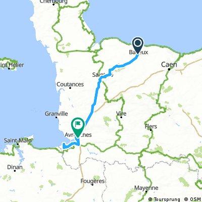 030 April 8th: Bayeux to Avaranches via Mont San Michel