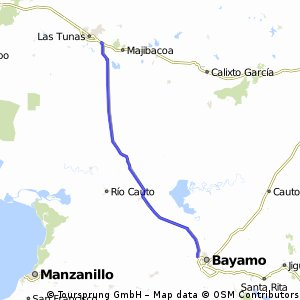 Cycling routes and bike maps in and around Bayamo Bikemap Your
