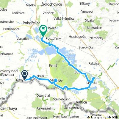 2 etapa puťáku po Jižní Moravě 2015