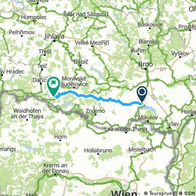 3 etapa puťáku  po Jižní Moravě 2015
