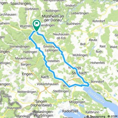 Tuttlingen-Rabental-Wittoh-Eigeltingen-Ludwigshafen-Stockach-Raithaslach-Heudorf-Liptingen-Tuttlingen