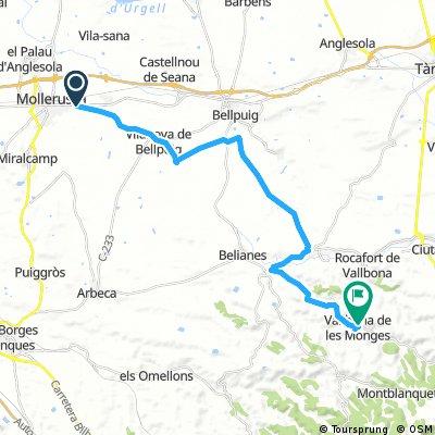 Ruta Mollerussa-Vallbona de les  Monges
