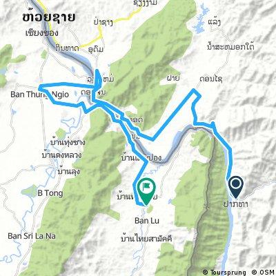 J064 – Vendredi 10 mars 2017 Pak Beng – Houay Xay – Jour 3 = Km 106 à Km 172  Pak Tha (Laos) – Ban Lai Ngao (Thaïlande)