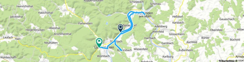 Lange Ausfahrt von Neuendorf nach Lohr am Main