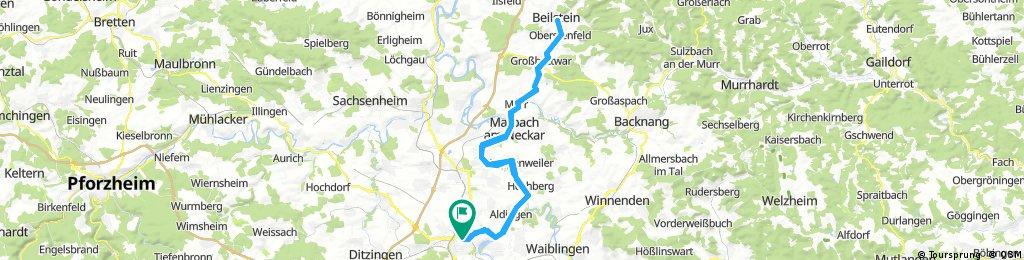 Neckartour bis Beilstein