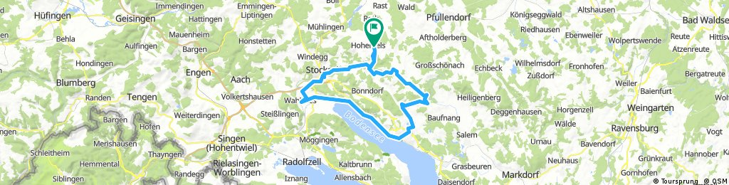Bike-Tour Hohenfels Überlingen Stockach