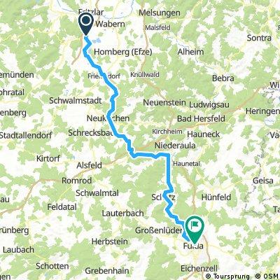Borken (Kleinenglis) nach Fulda