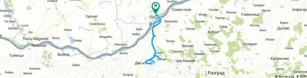 Giurgiu - Basarabov - Cherven - Orlova Chuka - Dve Moghili - Ruse