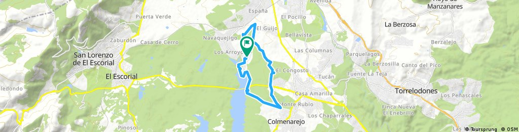bike tour through El Escorial