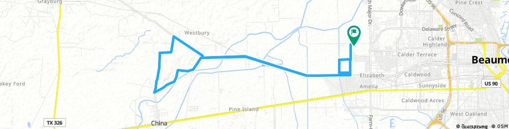 Lengthy ride through Beaumont