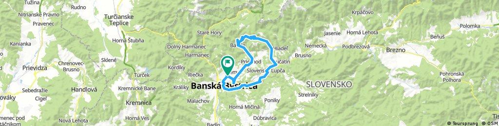 Lengthy bike tour through Banská Bystrica