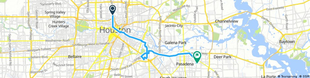 Lengthy ride from Houston to Pasadena