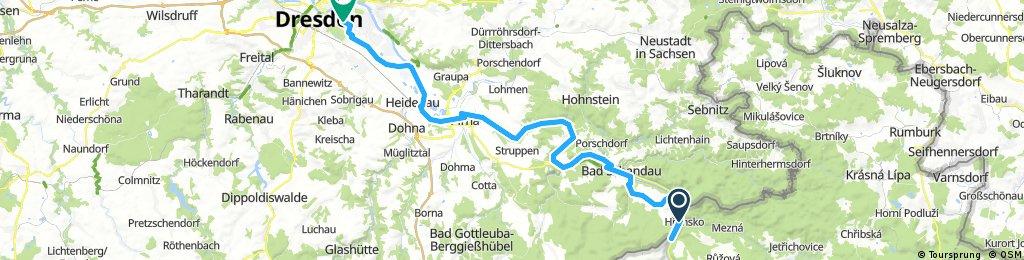 Schöna - Dresden (mit Umwegen)