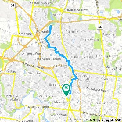 bike tour through Moonee Ponds