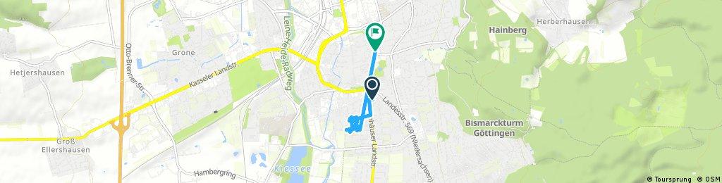 Brief ride through Göttingen