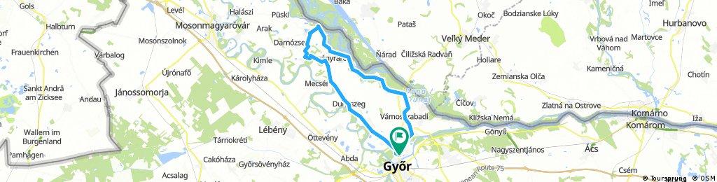 Győr-Szigetköz karika 1 nap alatt