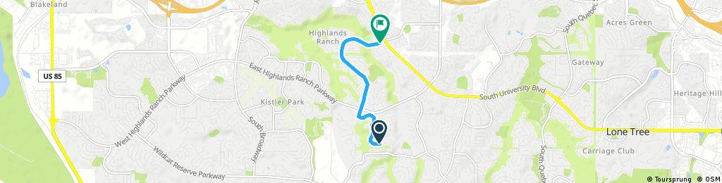 Short bike tour through Highlands Ranch