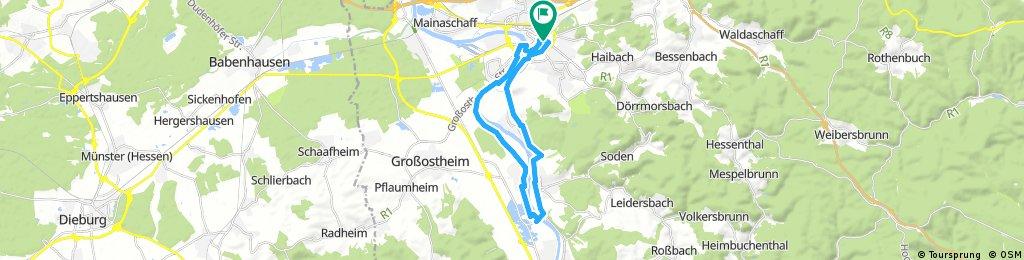 Ausfahrt durch Aschaffenburg