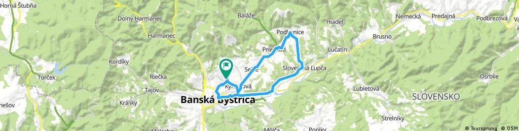 bike tour through Banská Bystrica