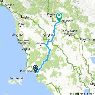6 Etappe Ok. Follonica - Florenz