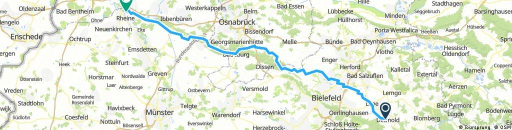 Detmold - Rheine Hügelig neu