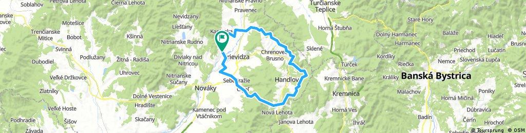 MTB Bojnice-Handlová 65km.
