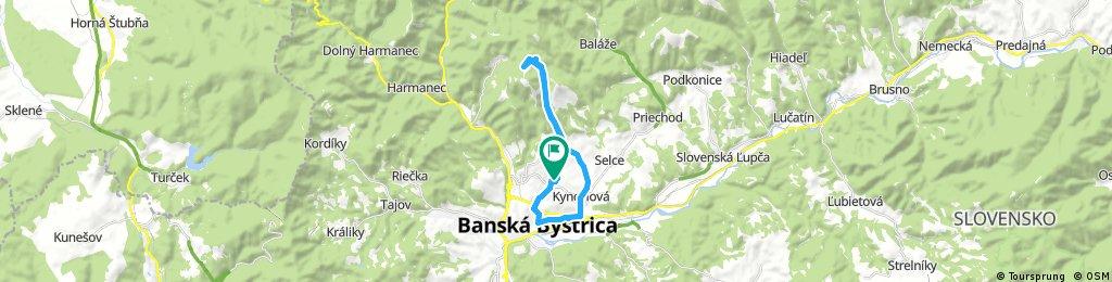 ride through Banská Bystrica