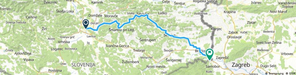 D-2 Ljubljana - Litija - Trbovlje - Zidani Most - Radeče - Sevnica - Krško - Brežice - Obrežje