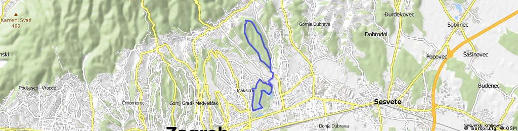 Cvita's 14 km Maksimir & Dotrscina Trail Run / XC Bike