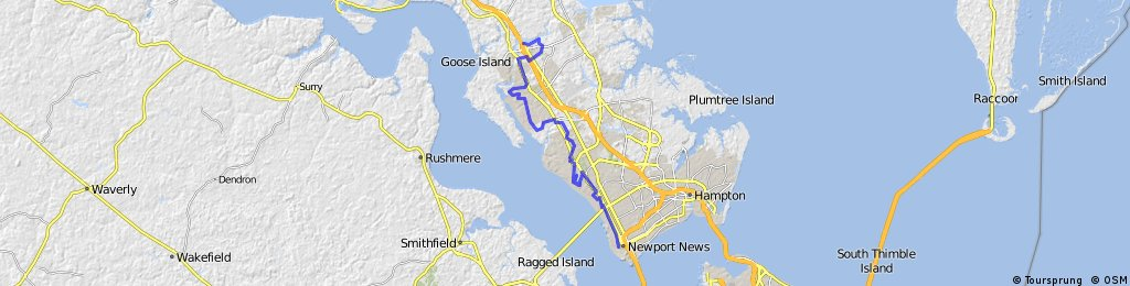 Newport News One City Route