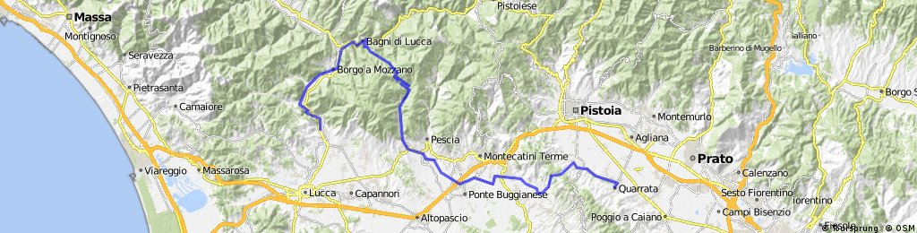 80km Lucca to Quarrata