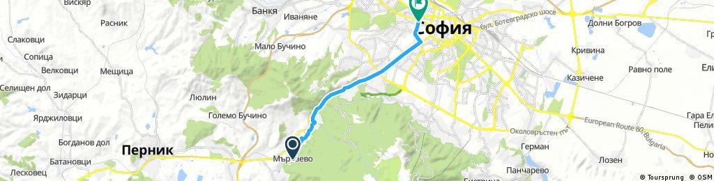 bike speed tour through Sredec