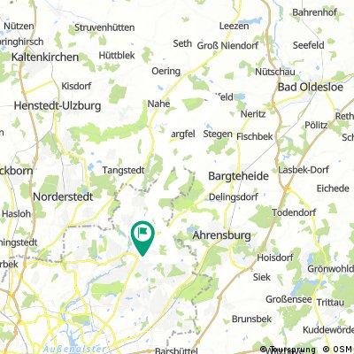 von Sasel zum Niehnwolder Moor nach Sülfeld und durch den Duvenstedter Brook zurück